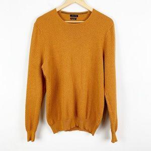 Massimo Dutti   Mustard Cotton Cashmere Sweater
